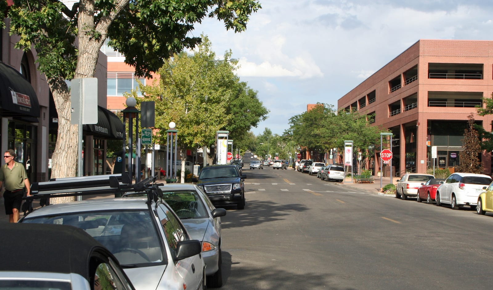 The Cherry Creek North neighborhood of Denver, CO