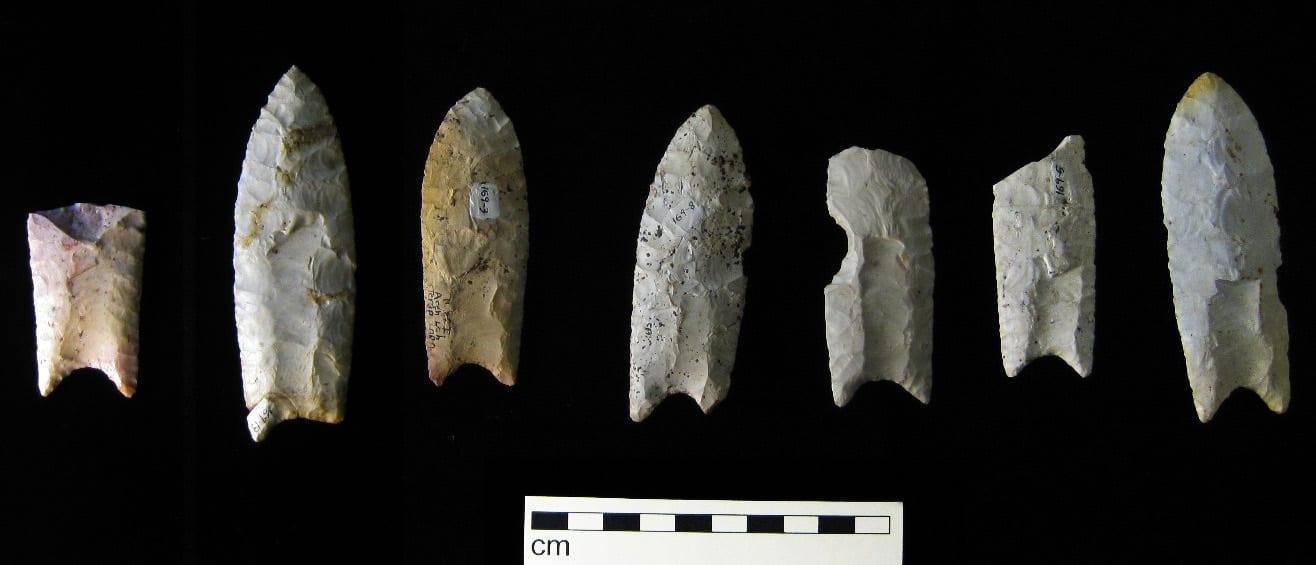 Clovis Paleoindians Spear Points
