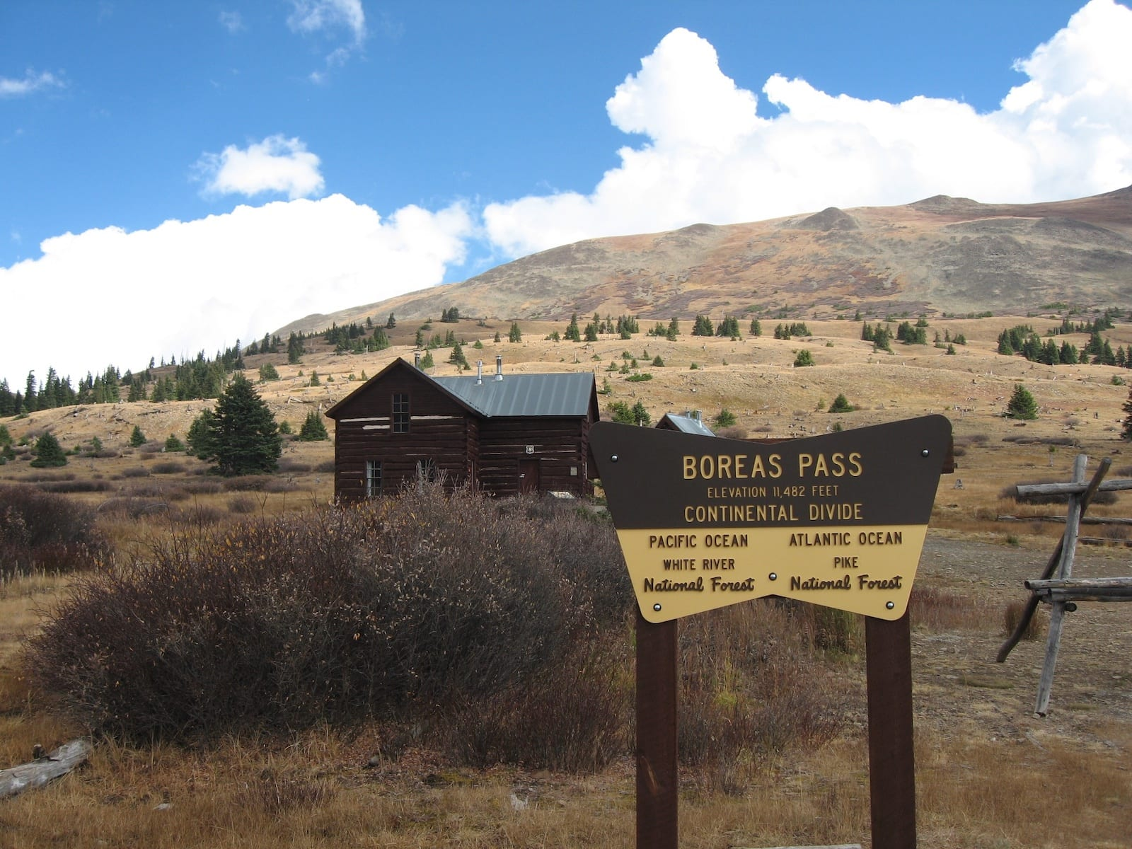 Boreas Pass Section House Continental Divide Sign Colorado