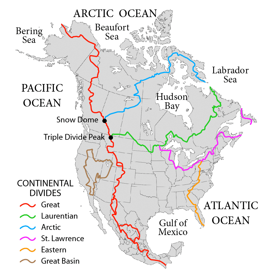 North America Water Divides
