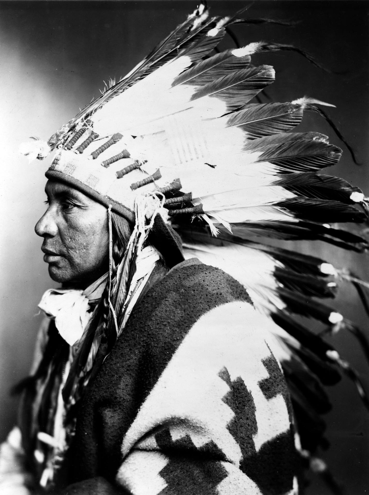 Sego Shoshone Indian Portrait Circa 1899 Denver CO