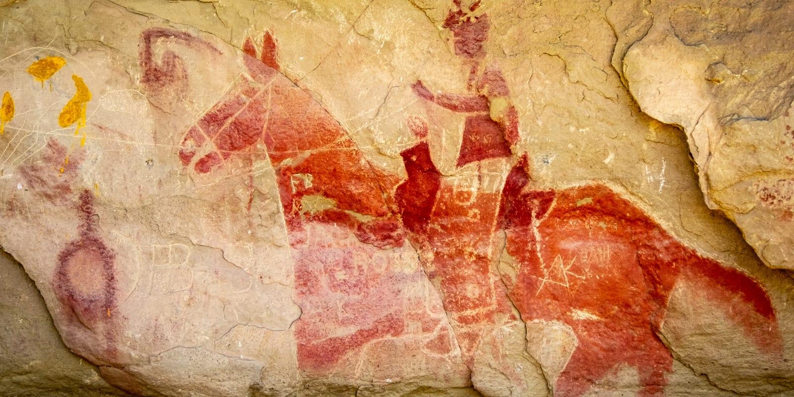 Colorado Native Americans Ute Mountain Park Pictograph