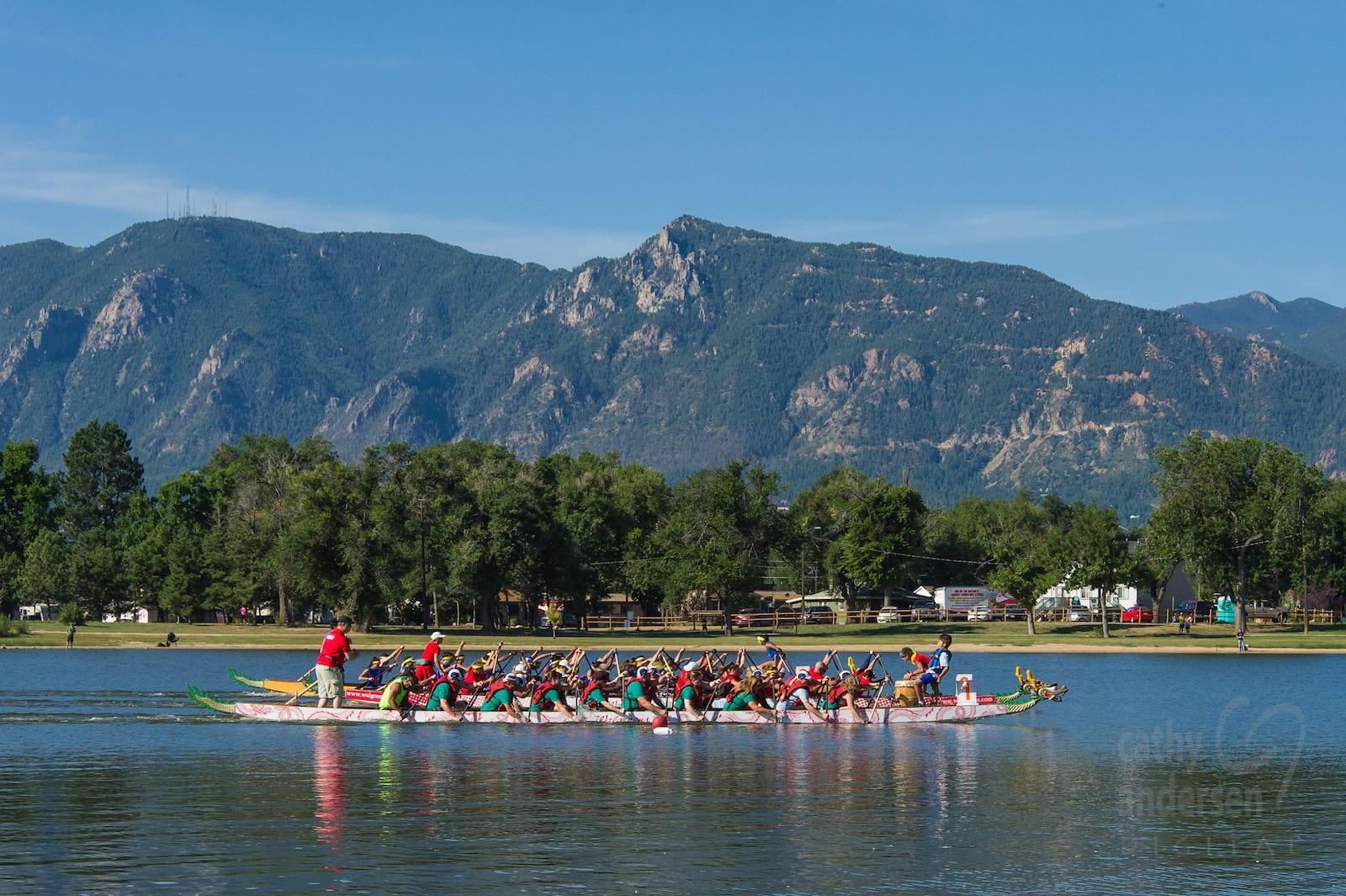 Dragon Boat Race, Prospect Lake, Memorial Park, Colorado Springs, CO