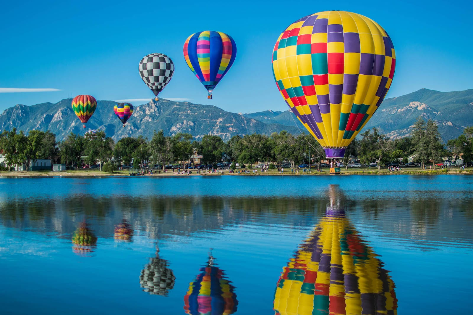 Balloon Classic in Memorial Park, Colorado Springs.