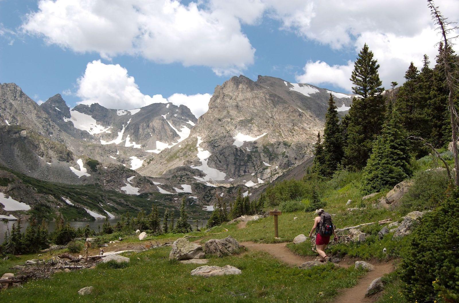 Belinda on the Pawnee Pass Trail, CO