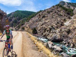 Bike ride up Waterton Canyon, Colorado