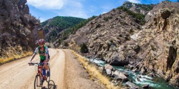 Bike ride up Waterton Canyon, Colorado