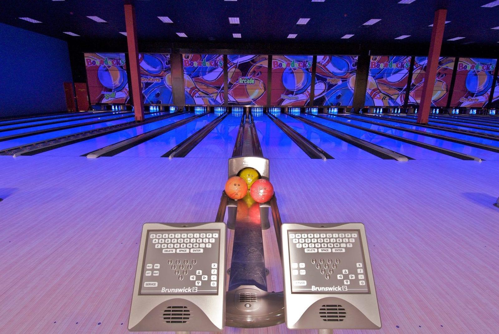 Bowling in Boondocks Fun Center, CO