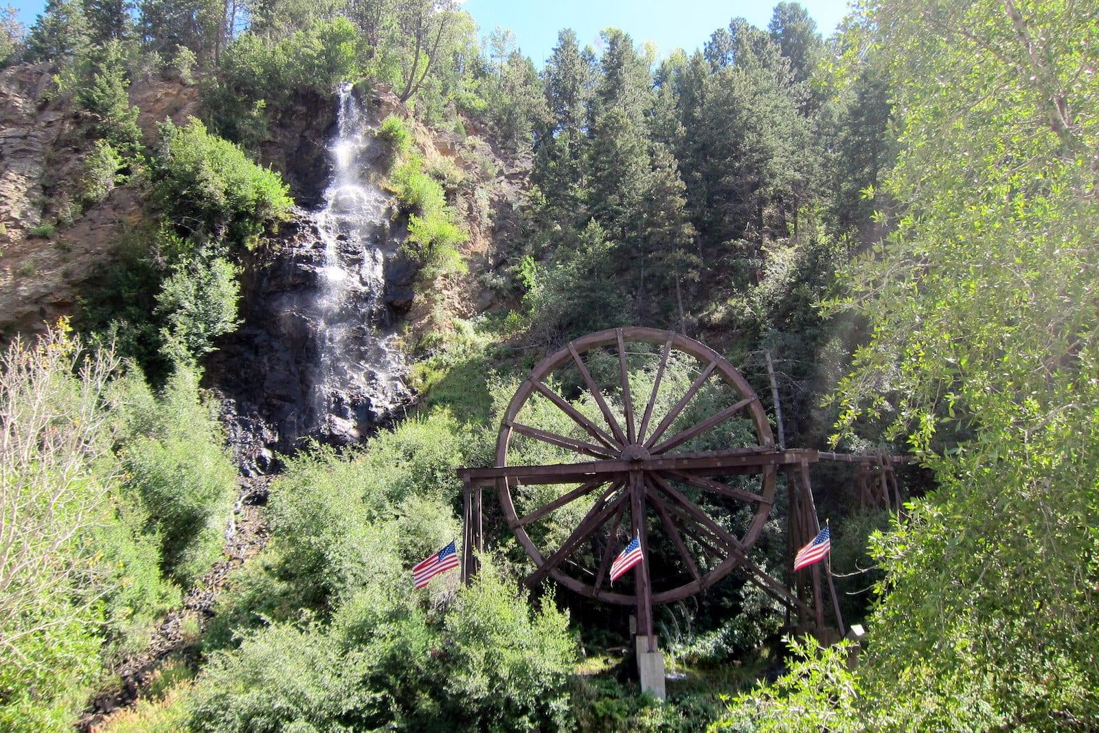 Bridal Veil Falls & Charlie Tayler Water Wheel, Idaho Springs
