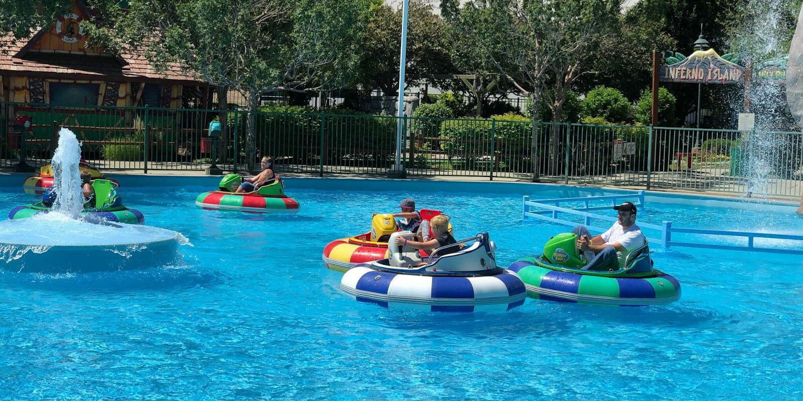 Bumper Boats in Boondocks Fun Center, CO