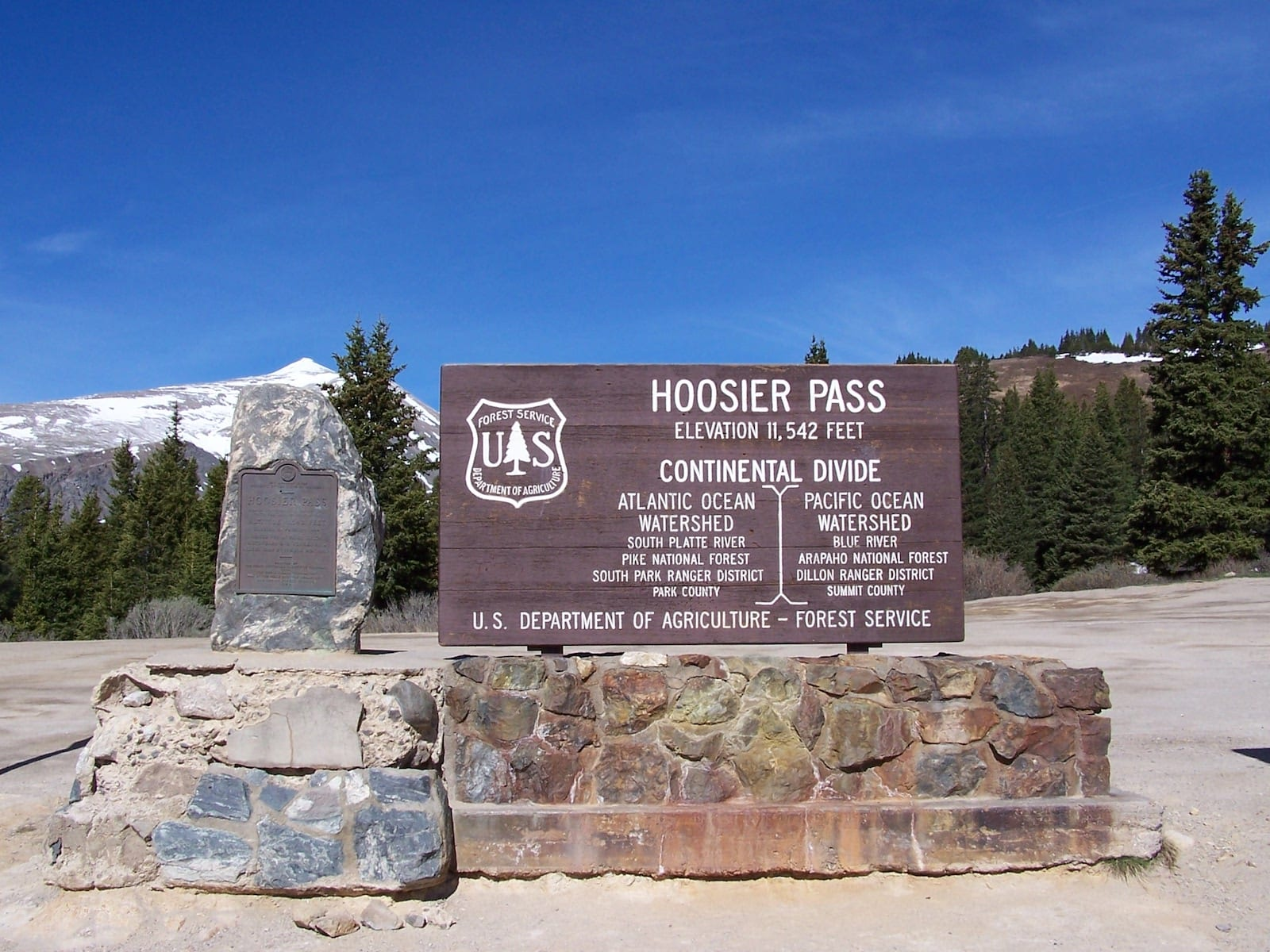 Hoosier Pass sign, CO