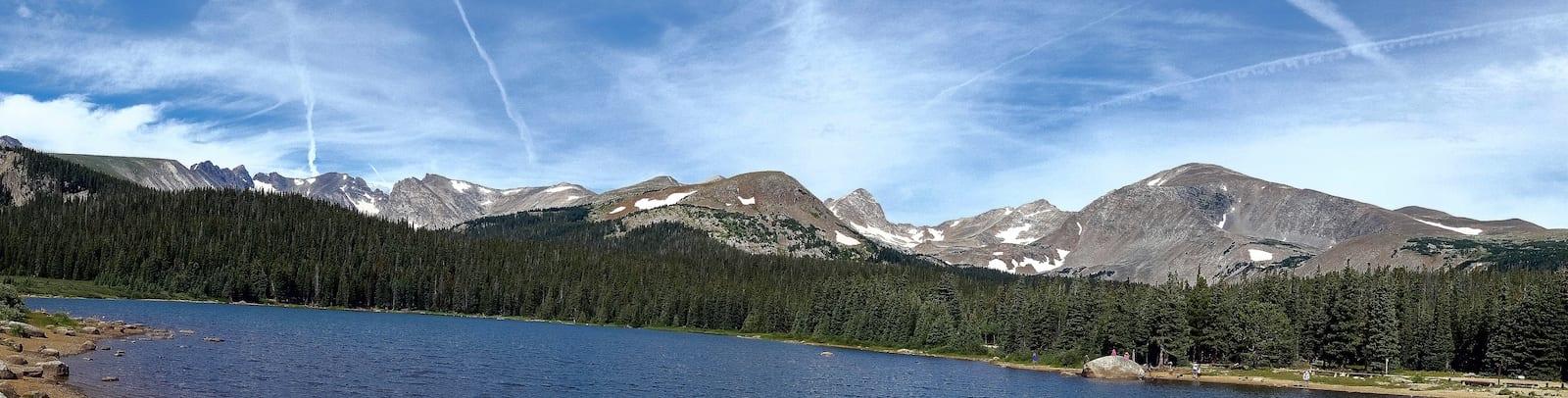 Indian Peaks behind Brainard Lake, CO