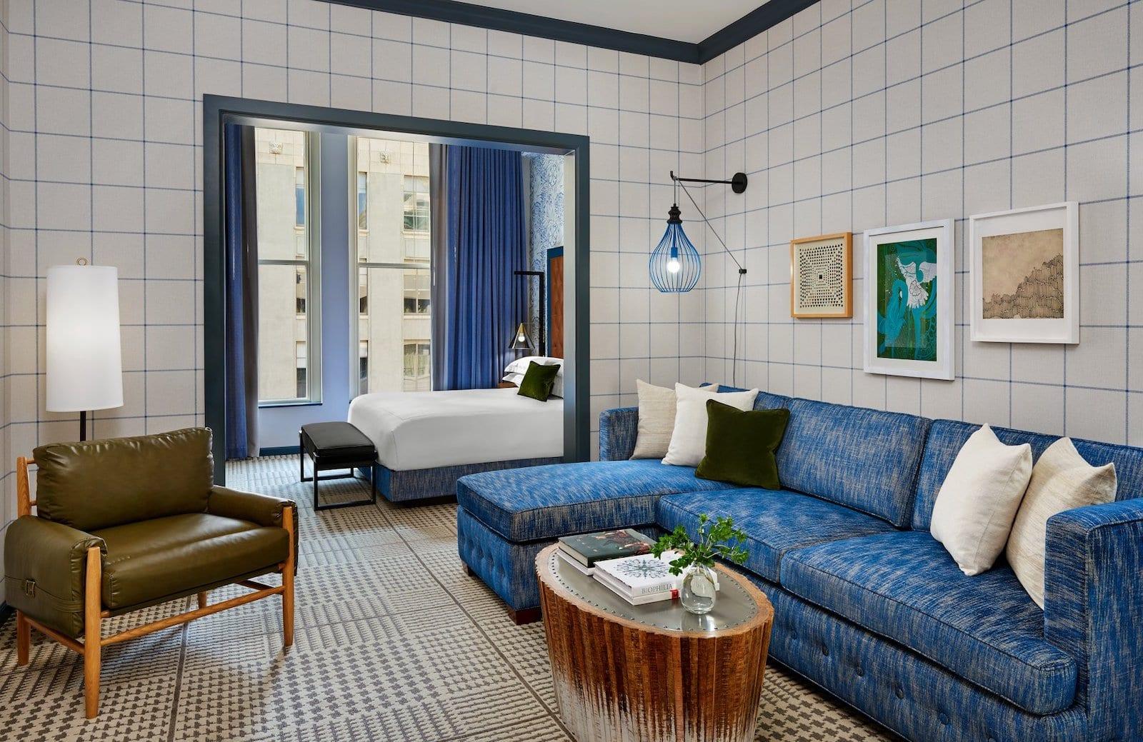 Hotel room Kimpton Hotel Monaco Denver, CO