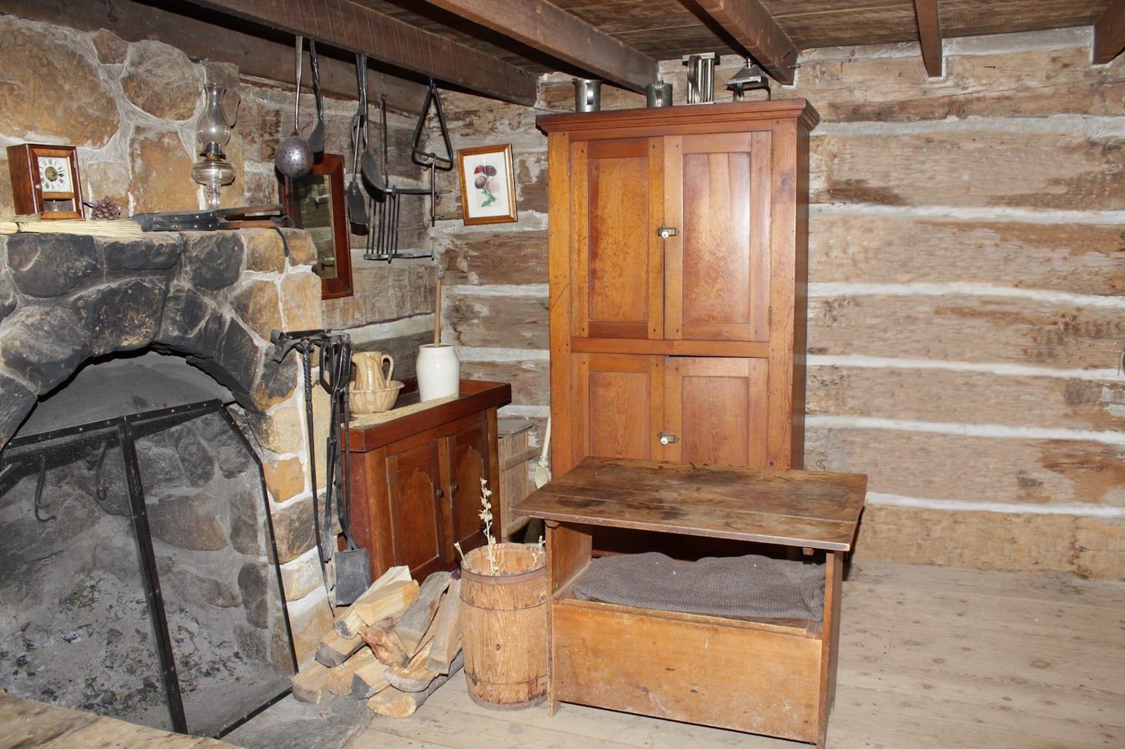 Indoor exhibits in Littleton Museum, CO