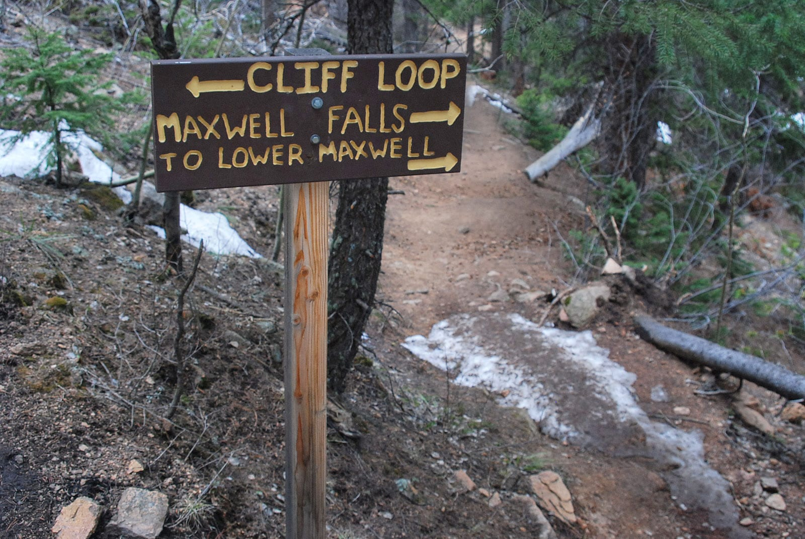 Maxwell Falls in Evergreen, CO