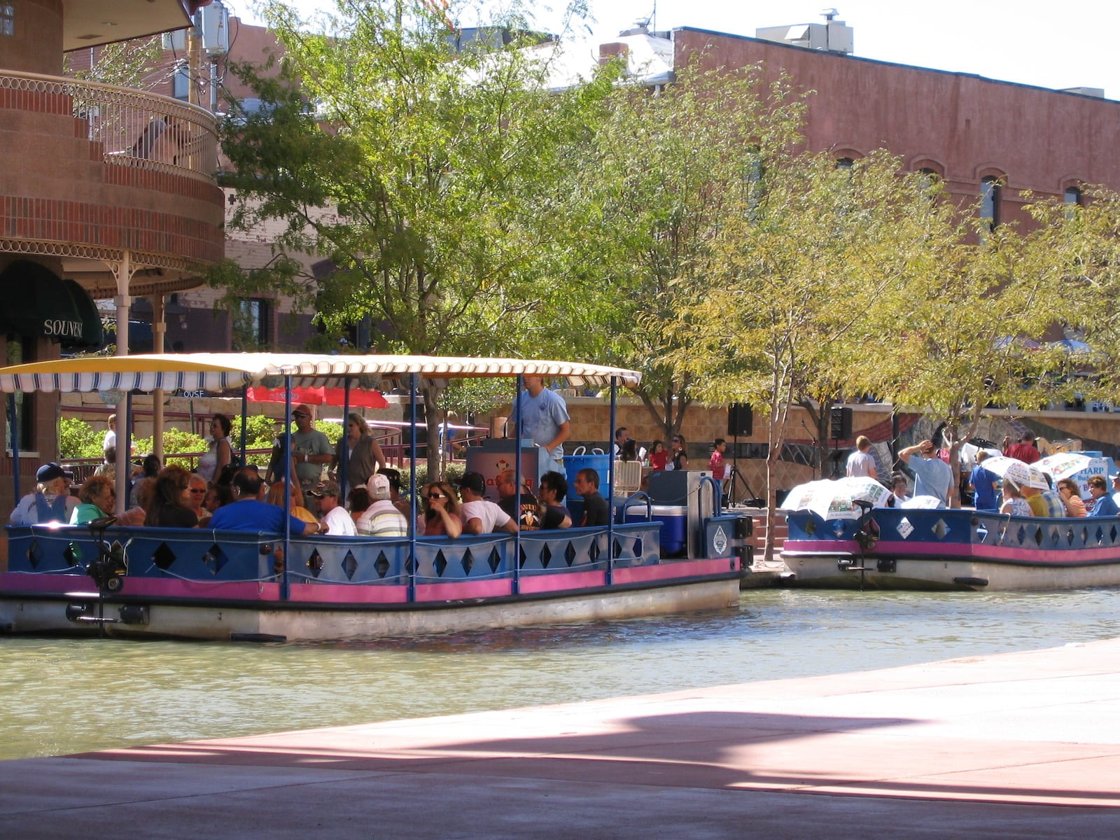 Boats on Pueblo Riverwalk, CO