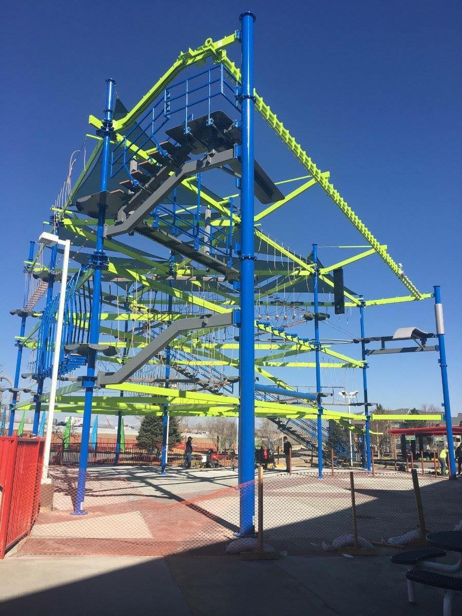 Ropes Course in Boondocks Fun Center, CO
