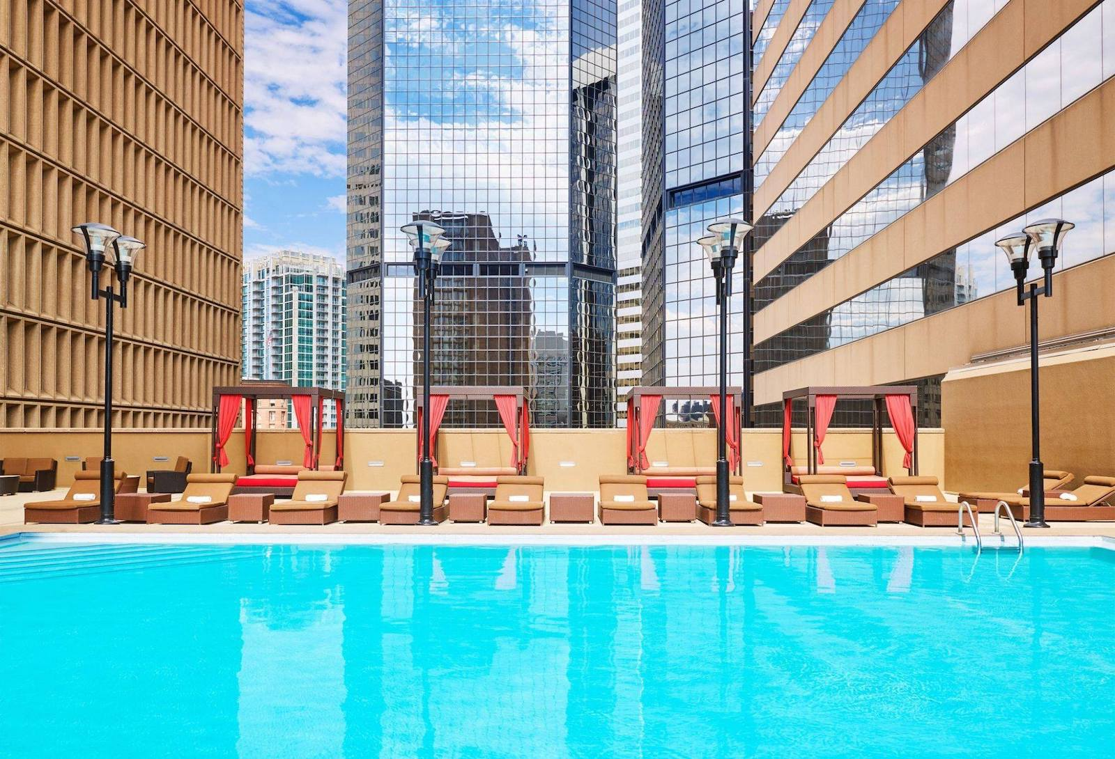 Swimming pool at Hotel room at Sheraton Denver Downtown Hotel, CO