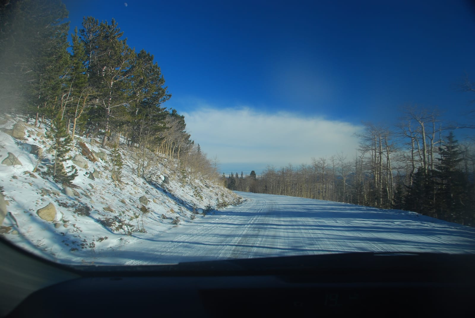Snowy Road to Brainard Lake, CO