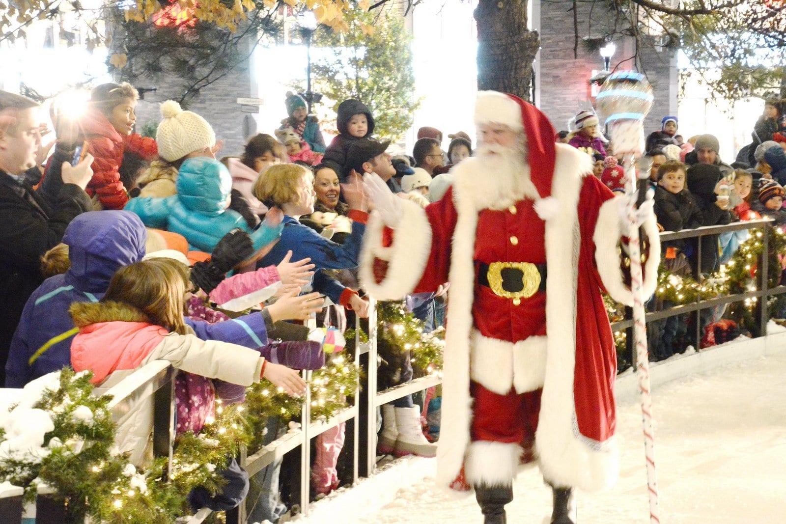 Santa Claus at The Streets at SouthGlenn, CO