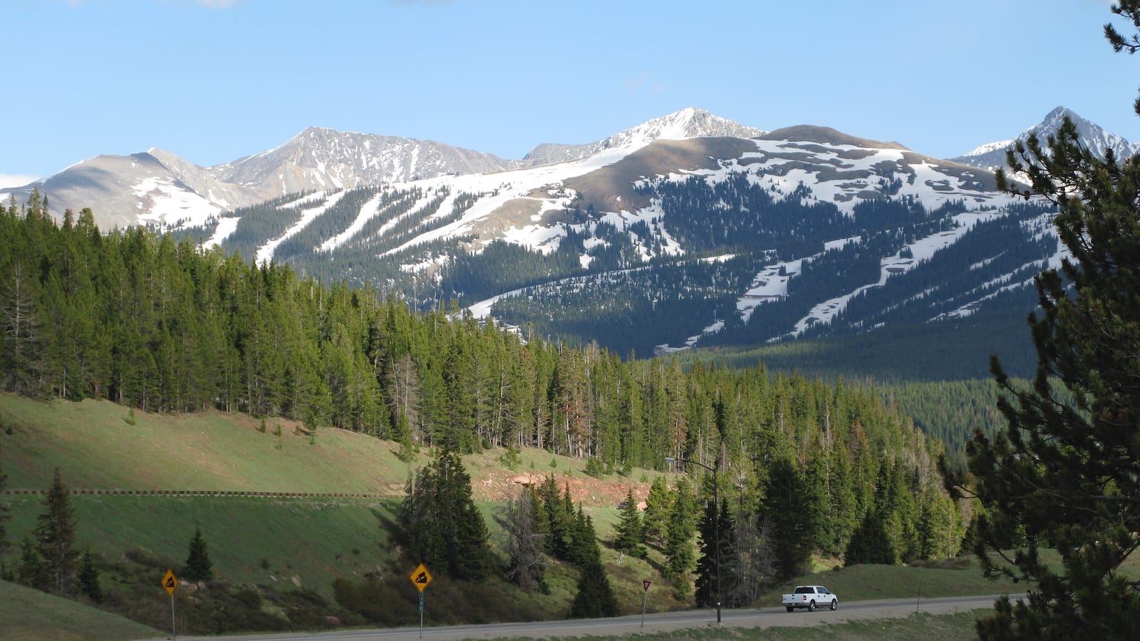 The view from Vail Pass, CO