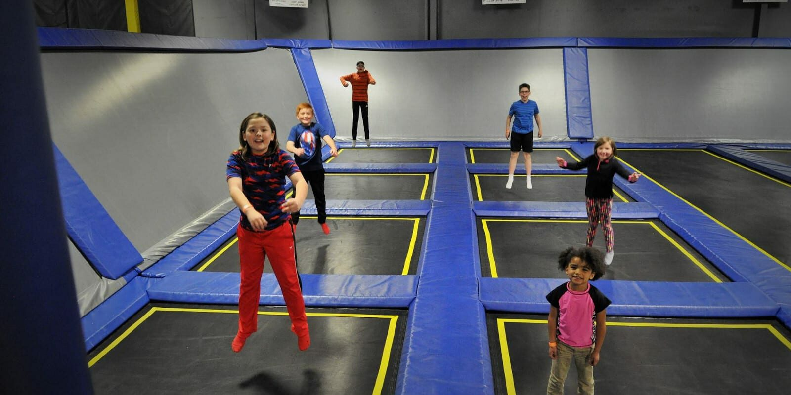 Trampoline Court in Springs Adventure Park, CO