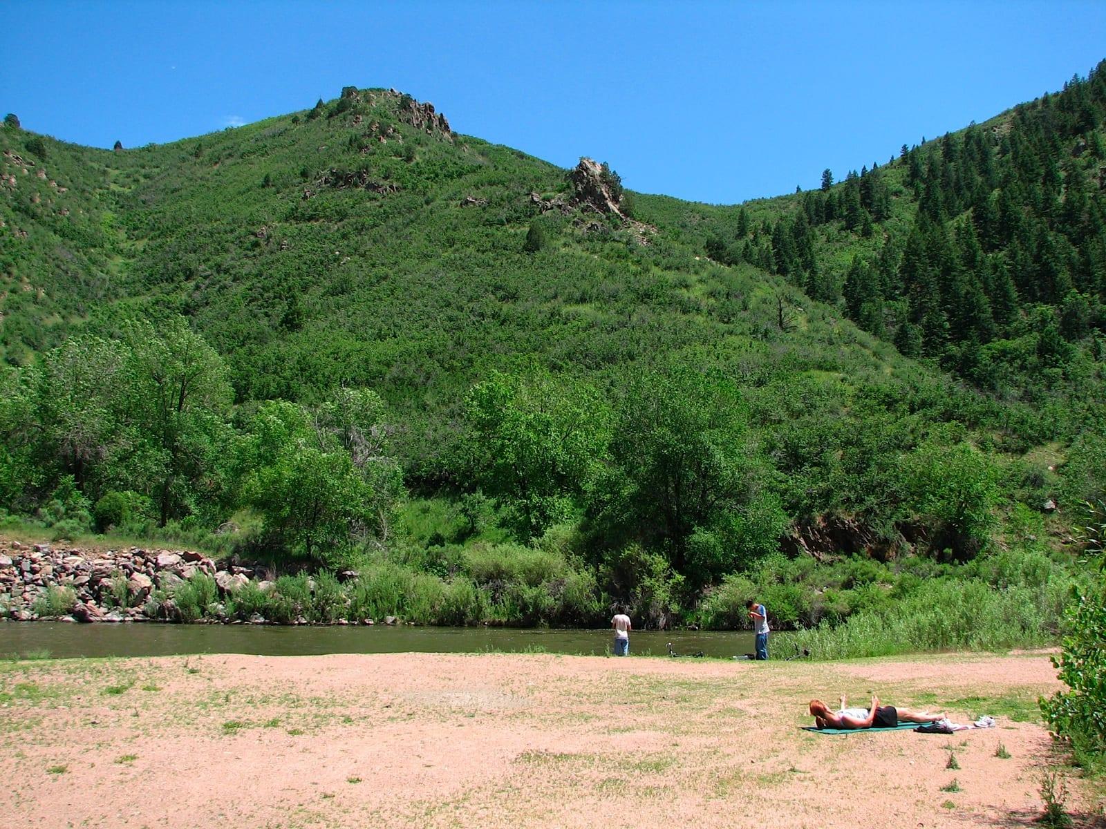 Fishing at Waterton Canyon, CO