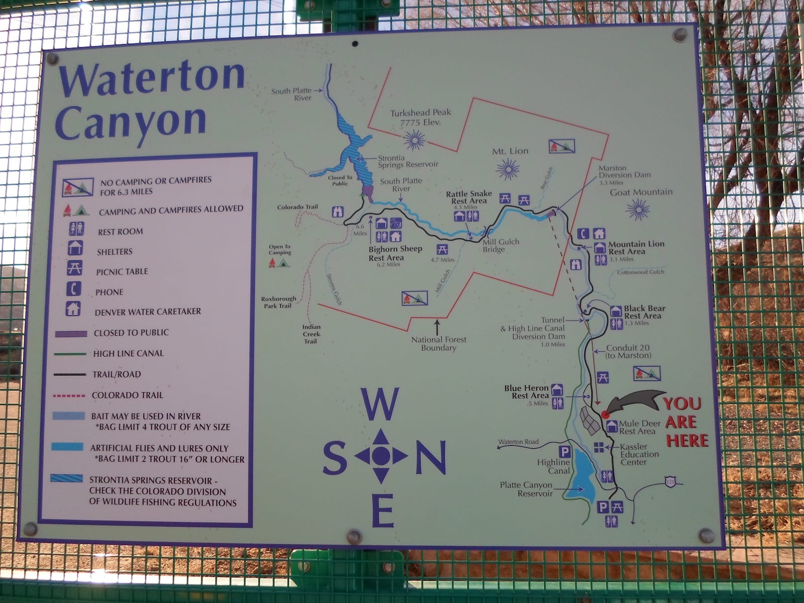 Waterton Canyon Map, CO