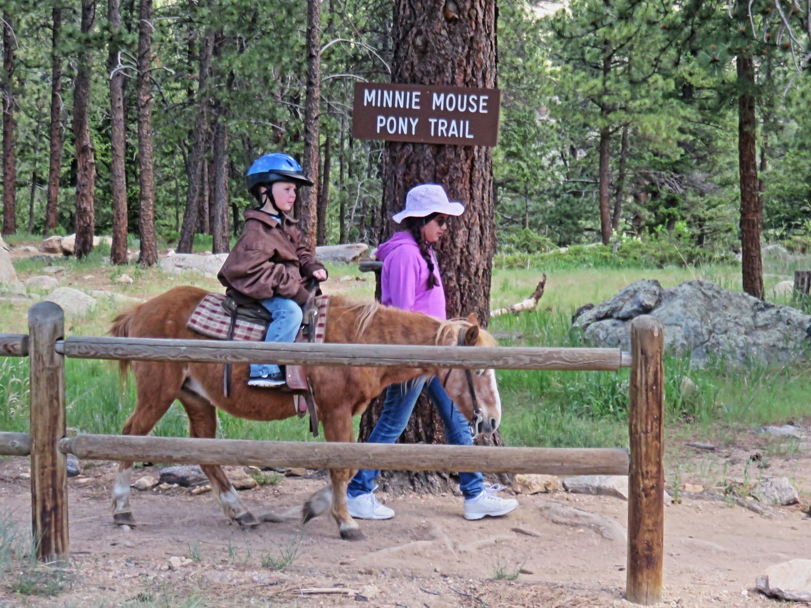 Riding on horseback at YMCA of the Rockies, CO
