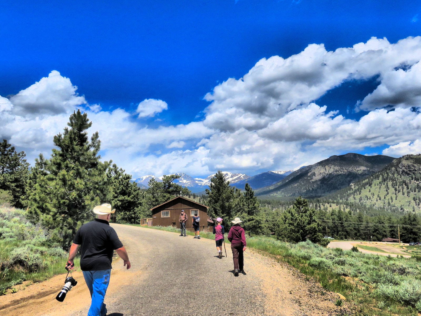 Approaching cabin at YMCA of the Rockies, CO