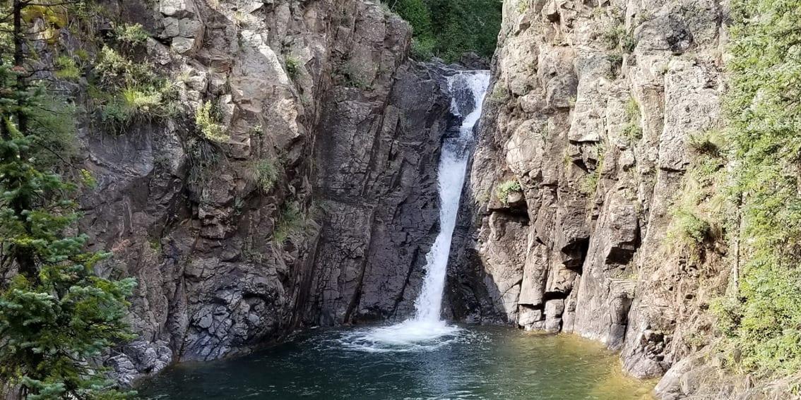 Adrenaline Falls Waterfall Durango Colorado