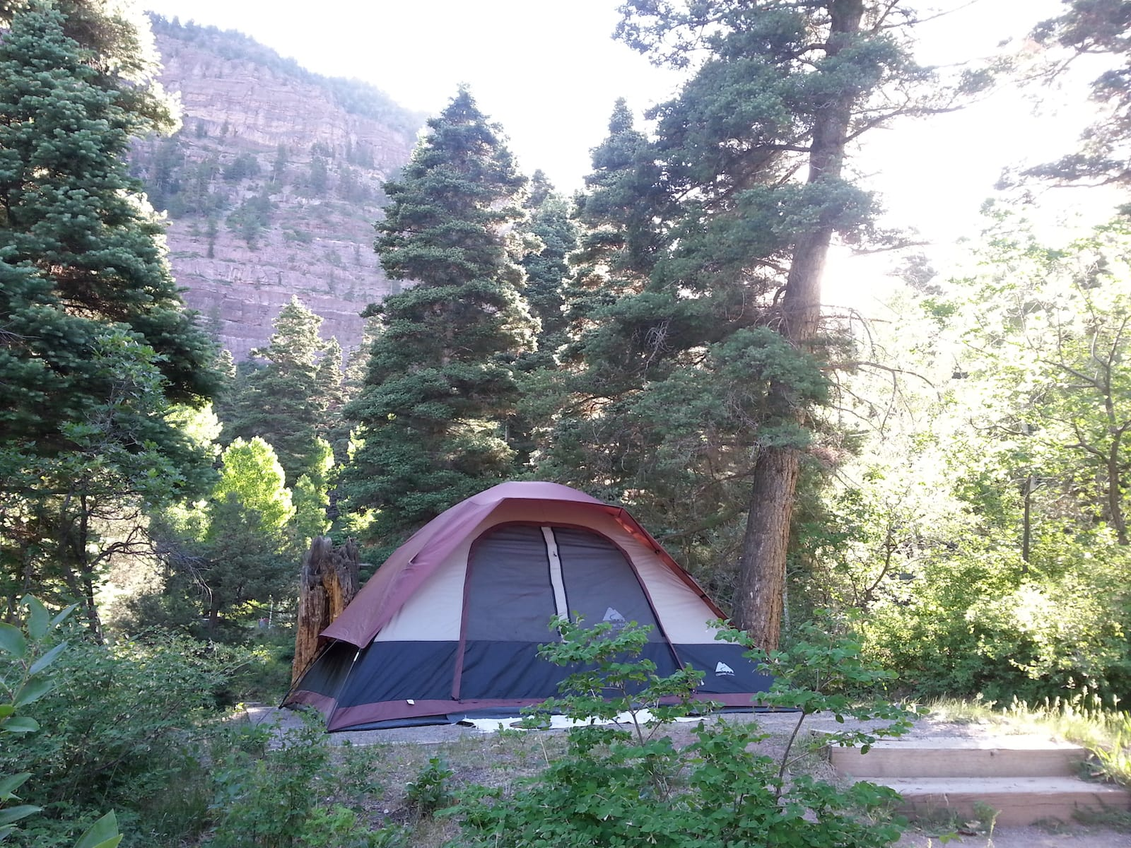 Amphitheater Campground Ouray CO Tent Site