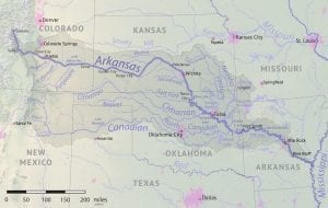 Arkansas River Basin Map