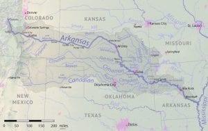 Arkansas River Basin Map