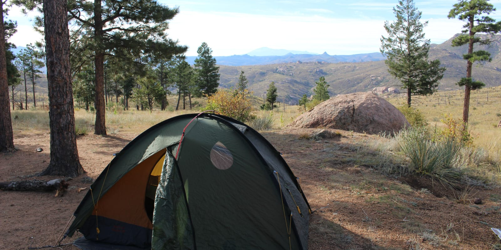 Dispersed Camping near Deckers CO Tent