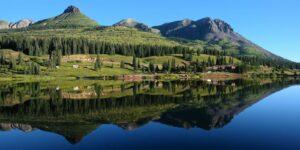 Camping near Silverton CO at Molas Lake