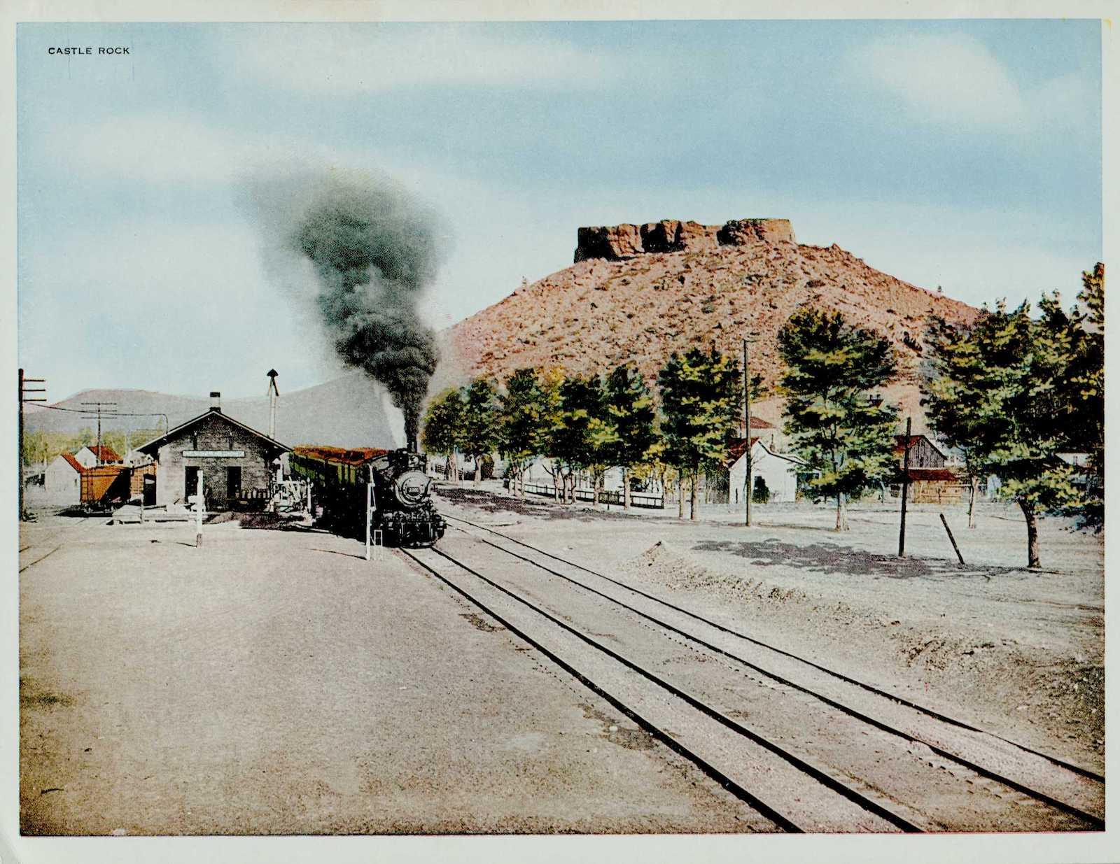 Castle Rock CO The Denver & Rio Grande Western Railroad Circa 1917