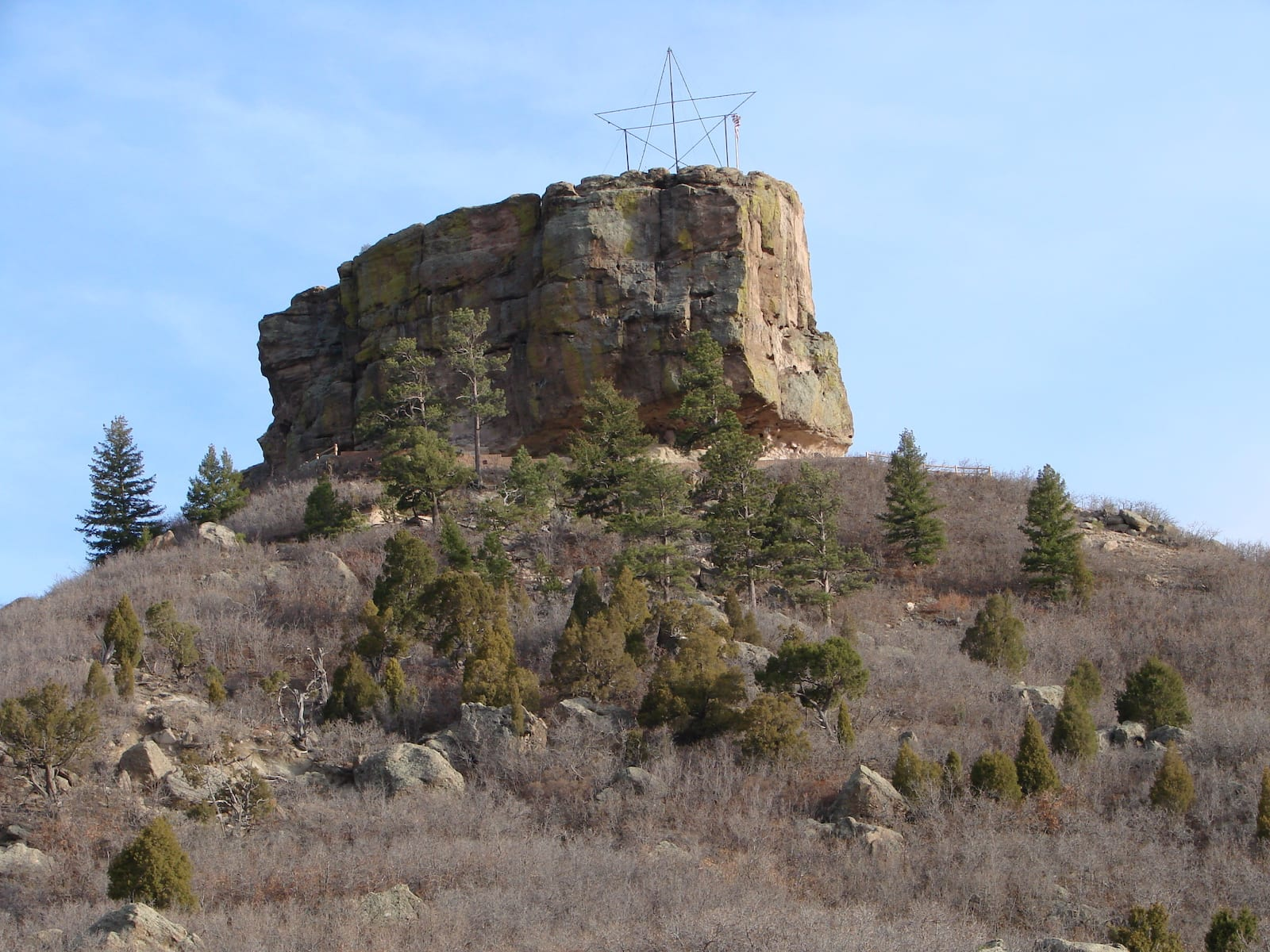 Castle Rock CO Butte Star