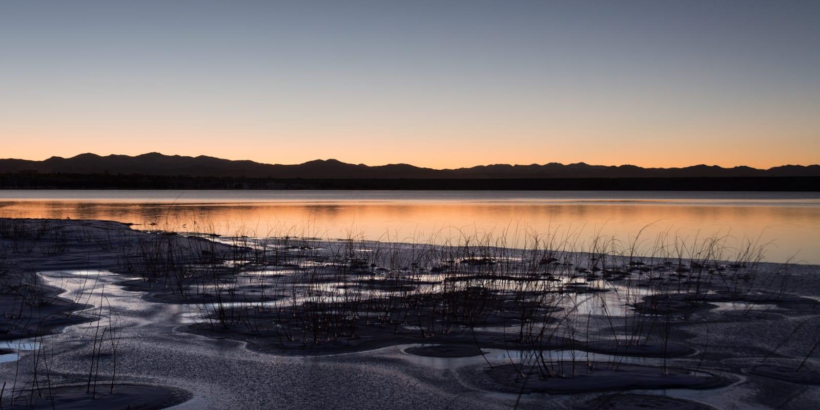 Cherry Creek Reservoir Aurora Colorado Sunset