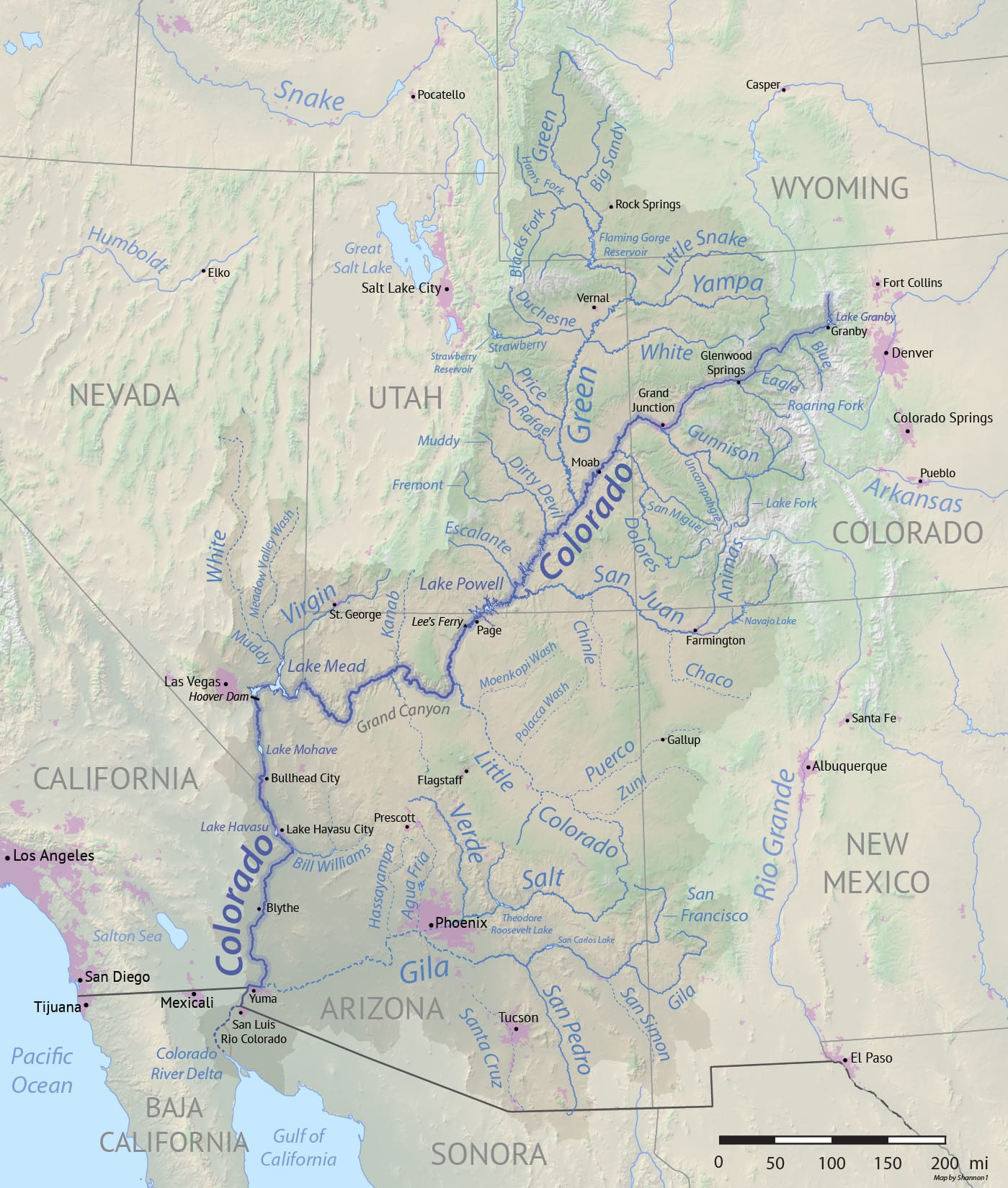 Colorado S Major Rivers List And Map Of Largest Rivers In Co