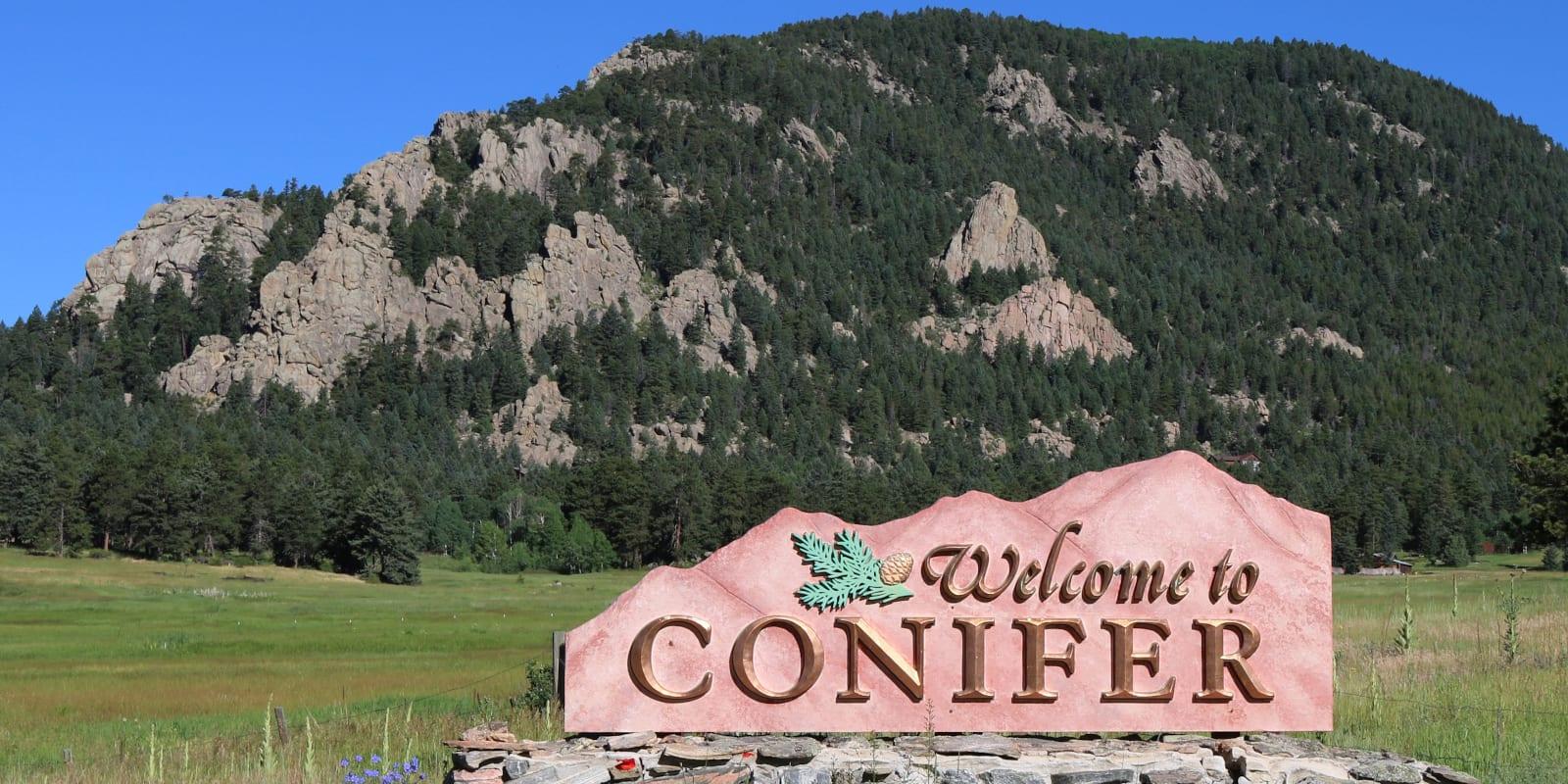 Conifer Colorado Welcome Sign