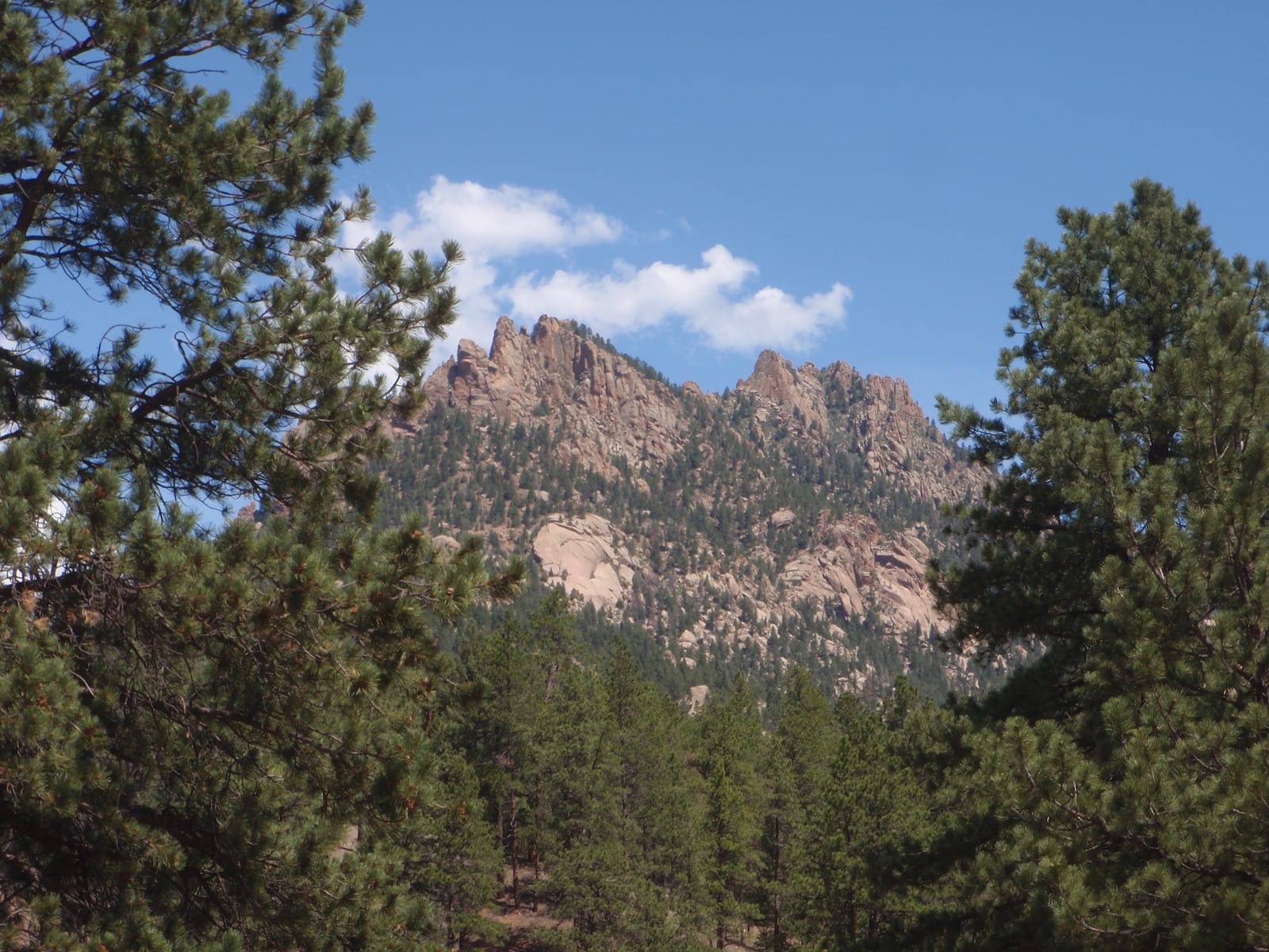 View of Mountains from the South Platte River Deckers CO
