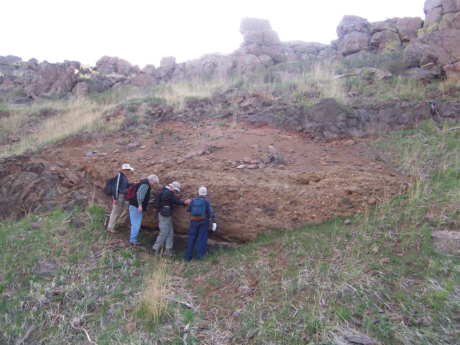 Denver Formation North Table Mountain Ancient Steam Bed Golden CO