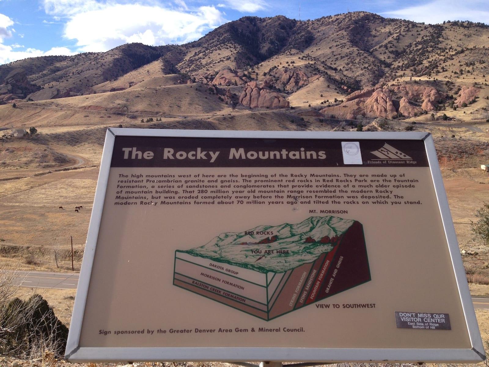 Dinosaur Ridge Rocky Mountains Morrison CO