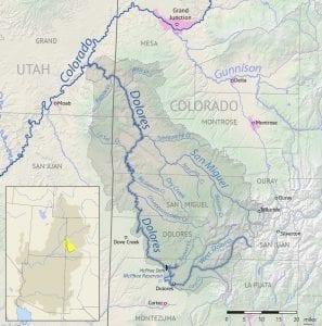 Dolores River Basin Map