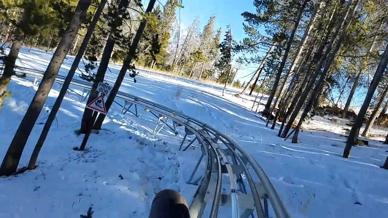 Forest Flyer Mountain Coaster Vail CO Winter
