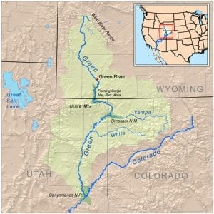 Green River Map Watershed Basin