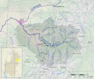 Gunnison River Basin Map