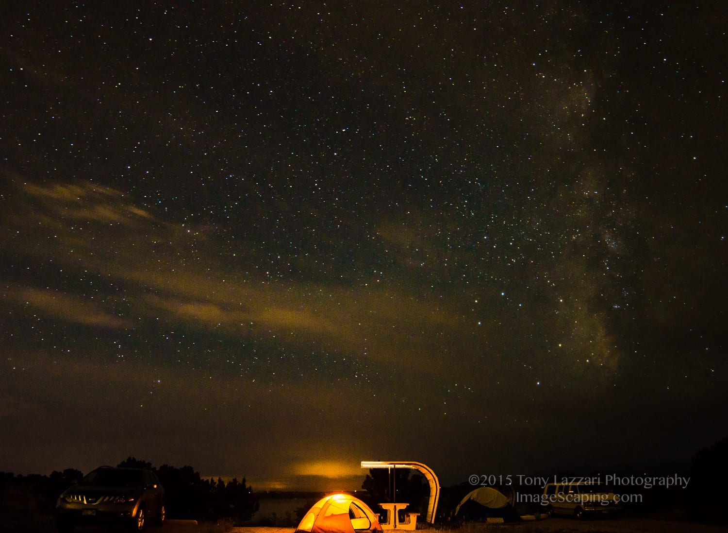 Lake Pueblo State Park Campground Tent Night Stars