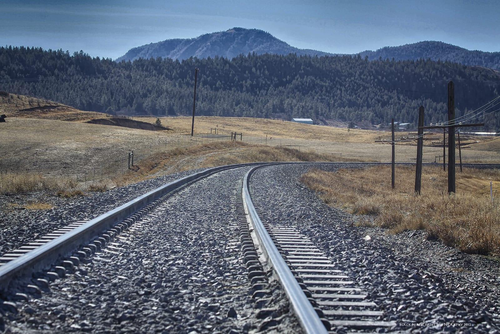 Larkspur CO Railroad Train Tracks